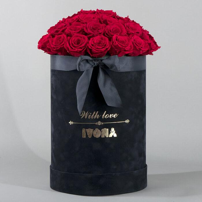Flower box crvene ruze