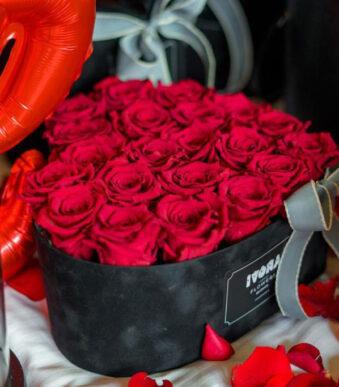 flower box ruže i mede